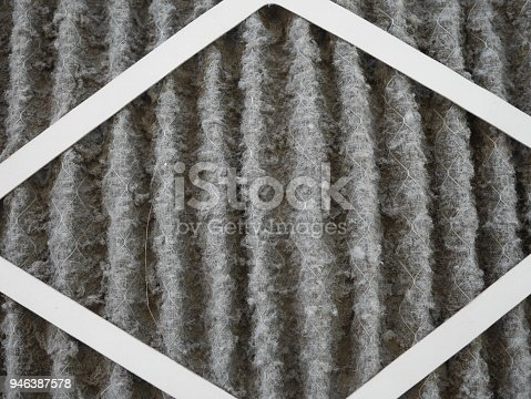 istock home air filter close up macro zoom show the dirt and particle cause bacteria inflection and sickness. 946387578