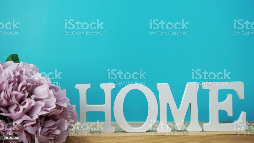 nach Hause Alphabet Buchstaben mit Weltraum-Hintergrund - Lizenzfrei Abstrakt Stock-Foto