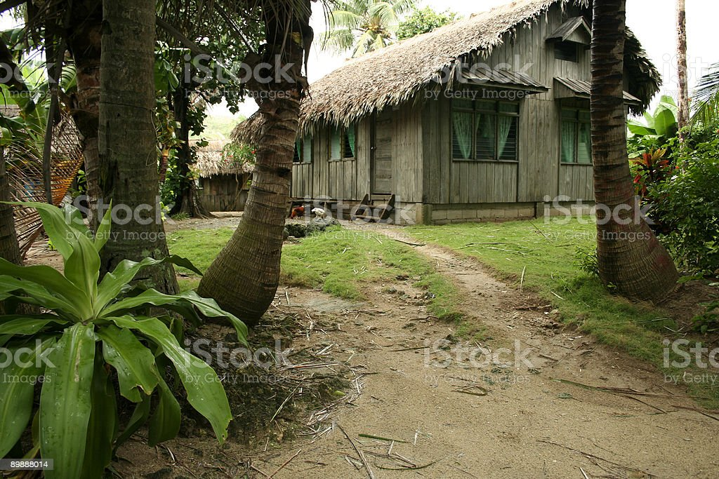 home and garden philippines beach hut royalty-free stock photo