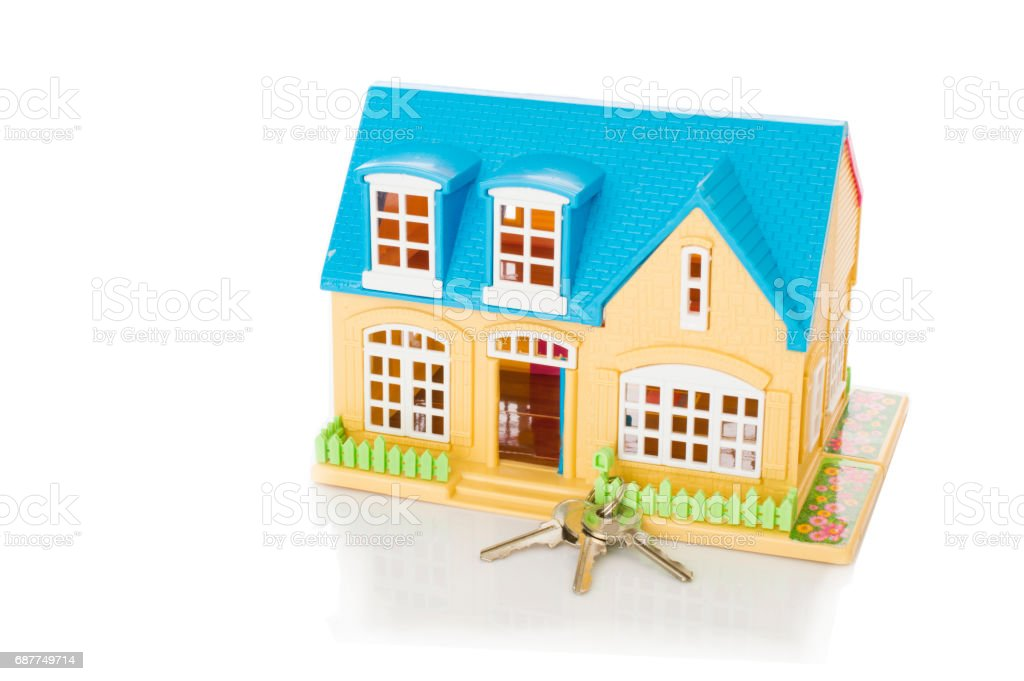 home and house key stock photo