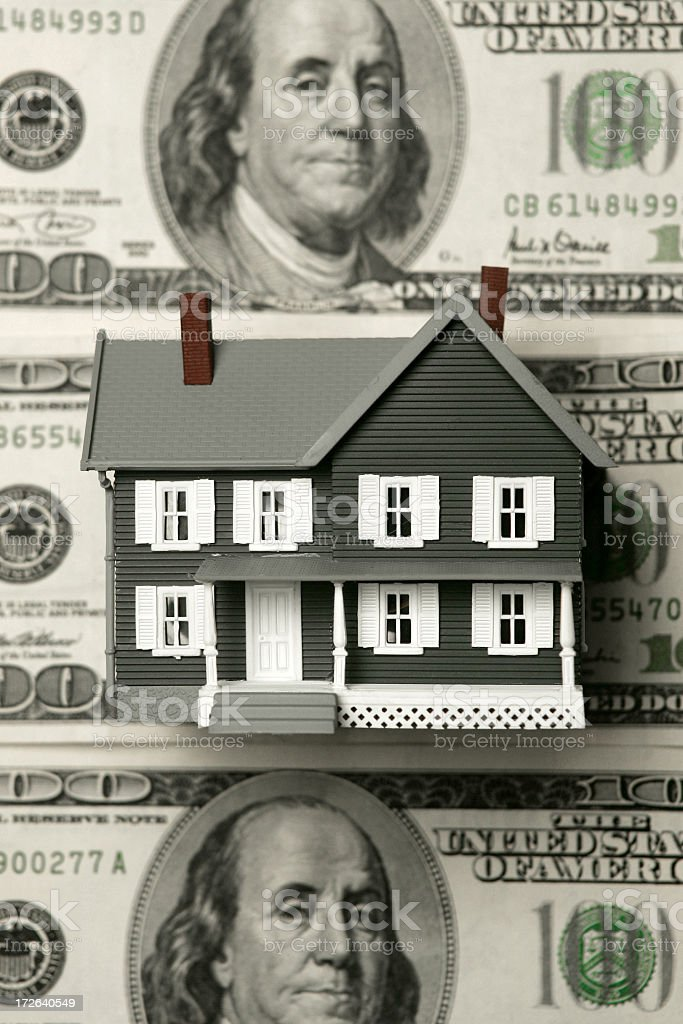 Home and Money stock photo