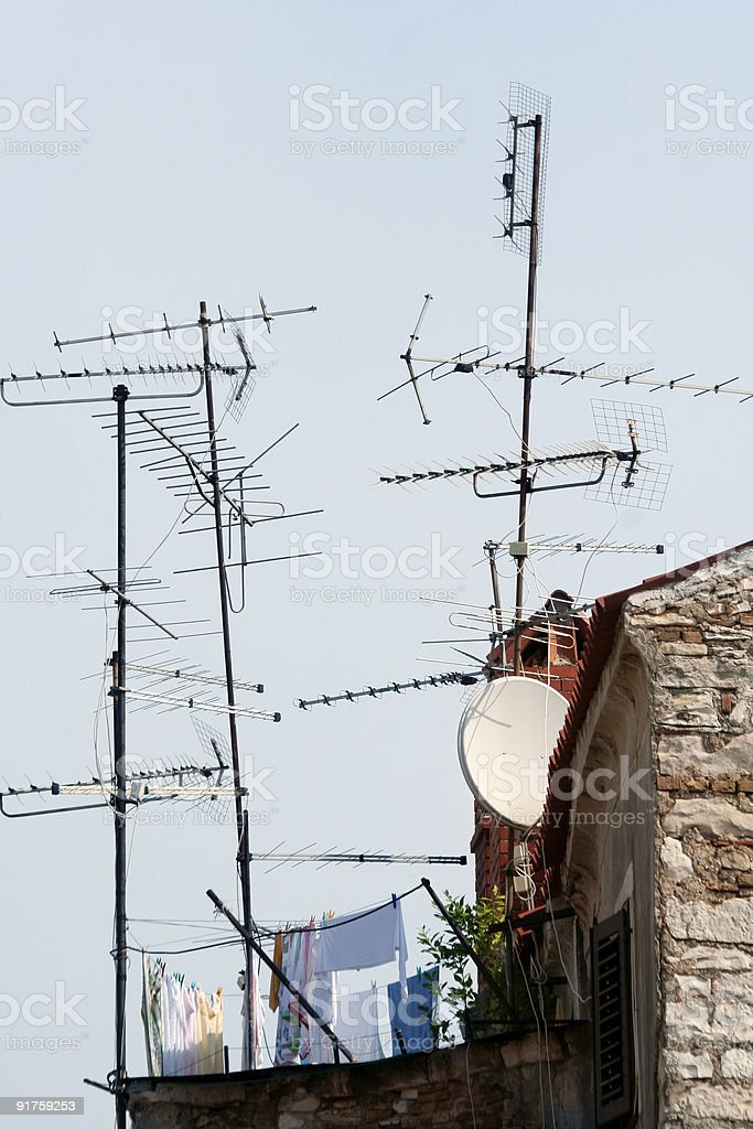 Home antenna royalty-free stock photo