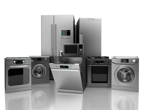 3D illustration of home appliance