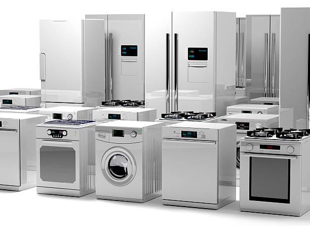 home appliance - commercial dishwasher stock photos and pictures