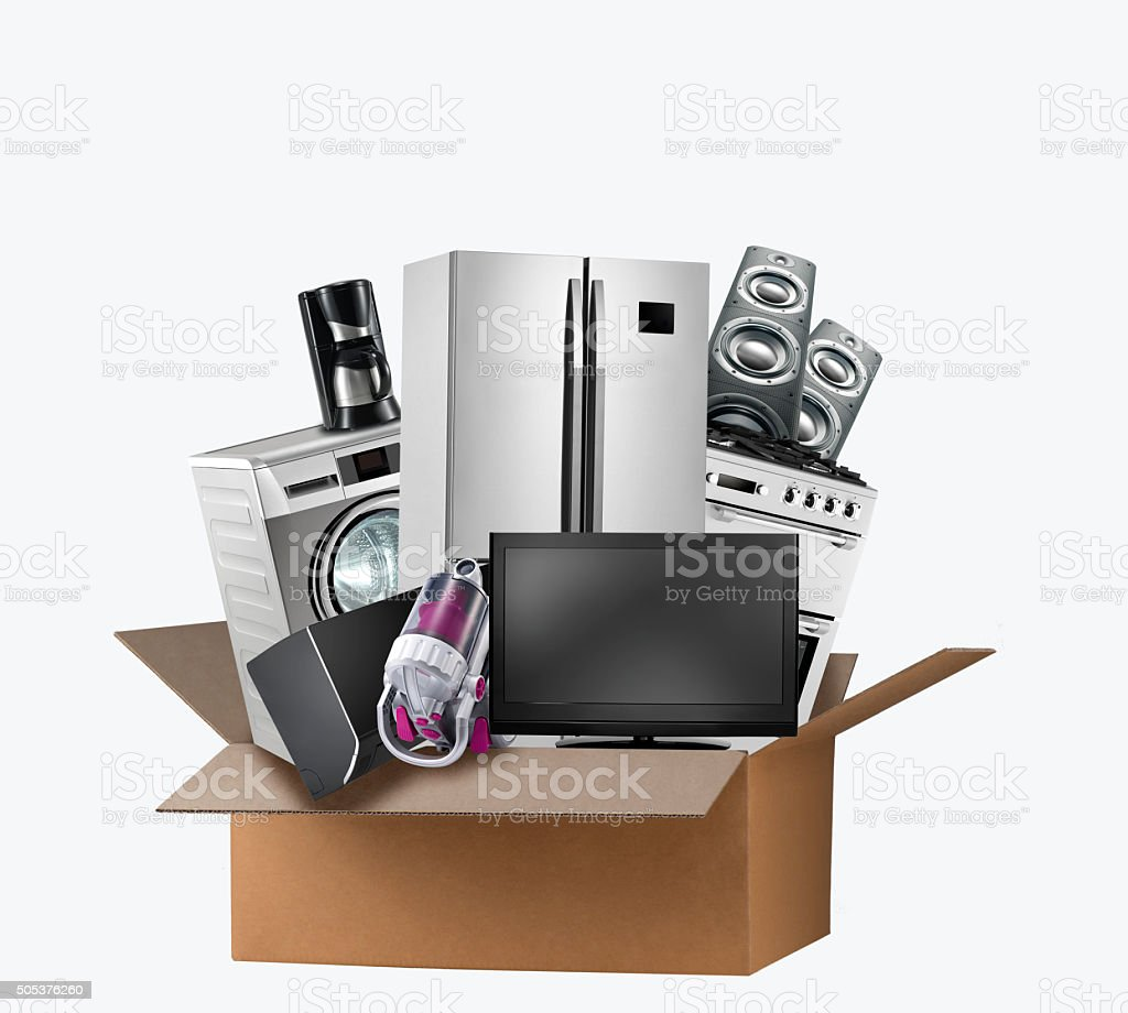 Home Appliance Shopping stock photo