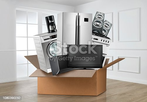Home appliances in a room