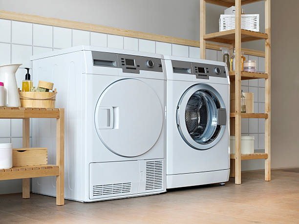 home appliances - laundry laundry room stock pictures, royalty-free photos & images