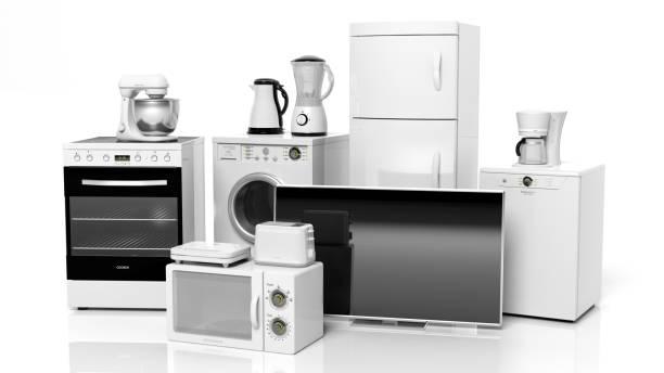 huishoudelijke apparaten - huishoudelijke apparatuur stockfoto's en -beelden