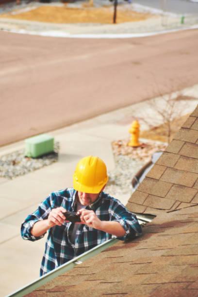 Home Gutachter oder Hauptprüfer Vermessung Dach des Eigentums – Foto