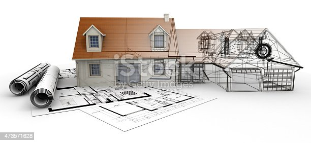 845440944istockphoto Home architecture project completion 473571628