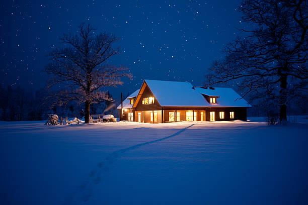 Hause an Weihnachten – Foto