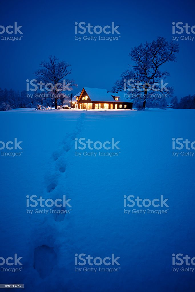 Home at christmas stock photo