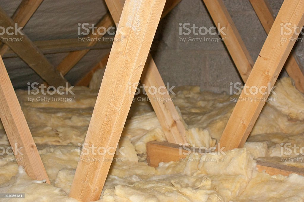 Home Attic stock photo