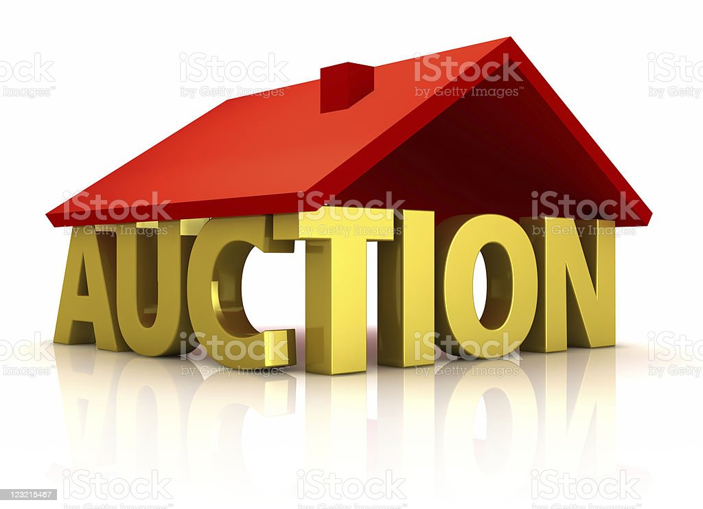 Home auction. stock photo
