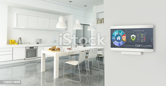 Home automation control station in a modern home