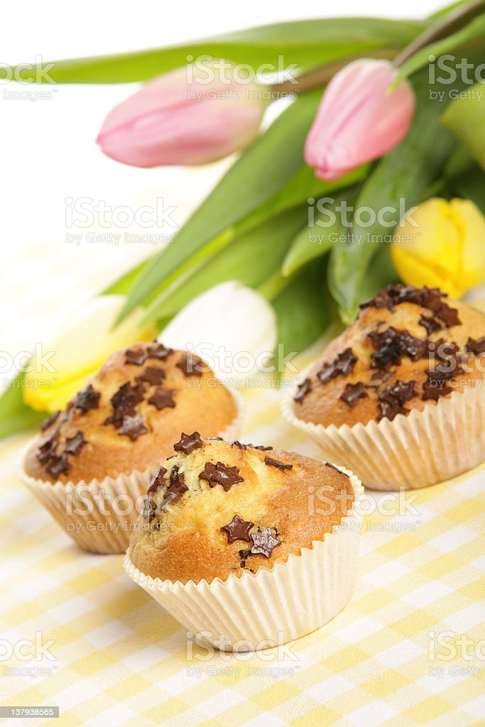 Home baked muffins royalty-free stock photo