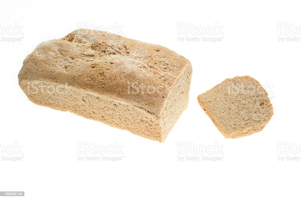 Home Baked Organic Loaf of Bread royalty-free stock photo