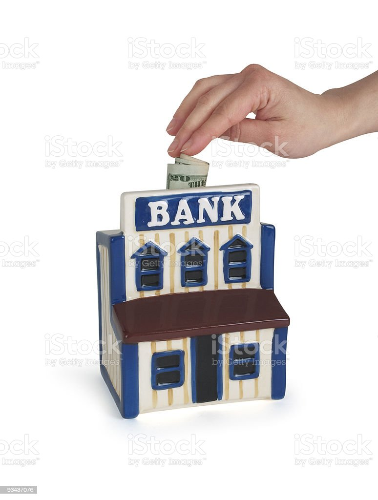Home Bank mit clipping path Lizenzfreies stock-foto