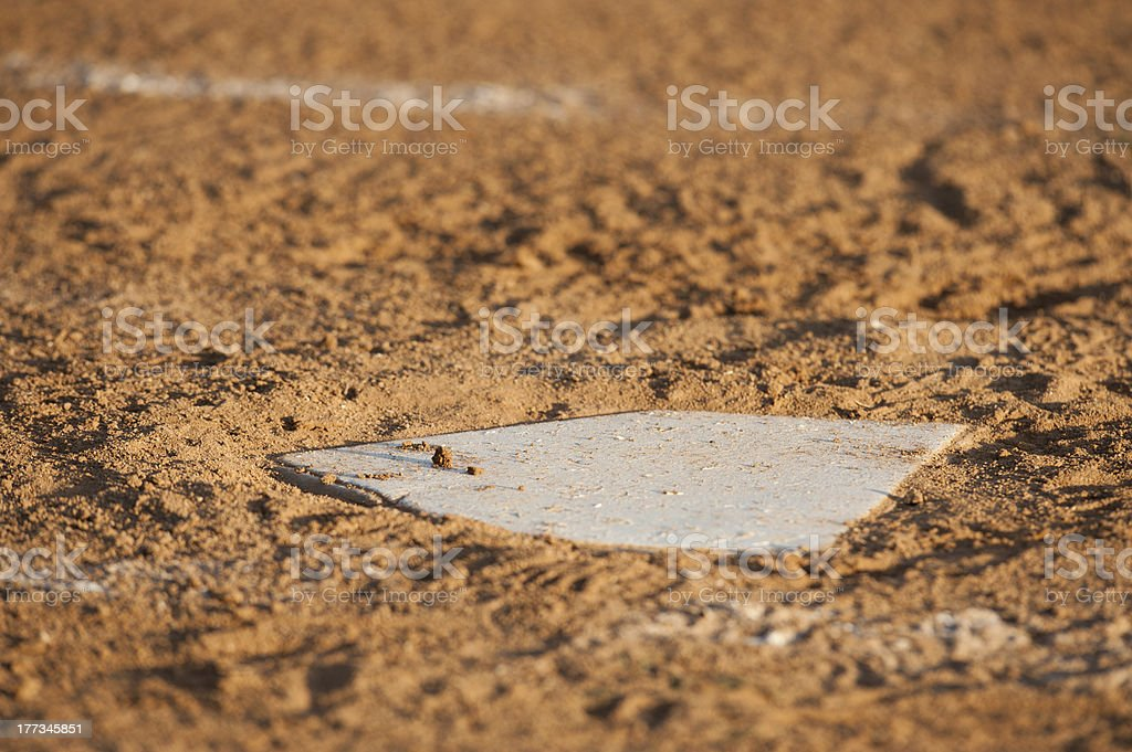 Home base in the dirt royalty-free stock photo