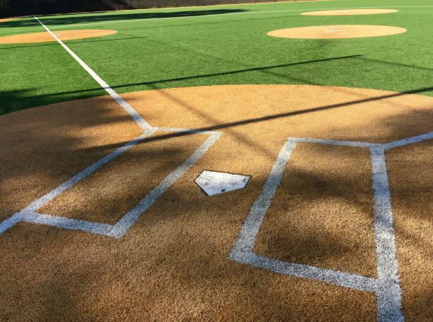 placa base casa no diamante - softbol esporte - fotografias e filmes do acervo