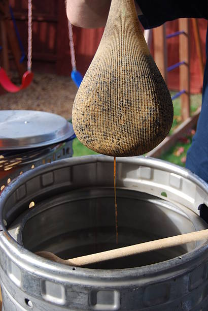 Home Beer Brewing stock photo