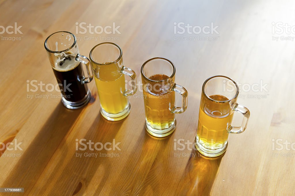 Home Beer Flight royalty-free stock photo