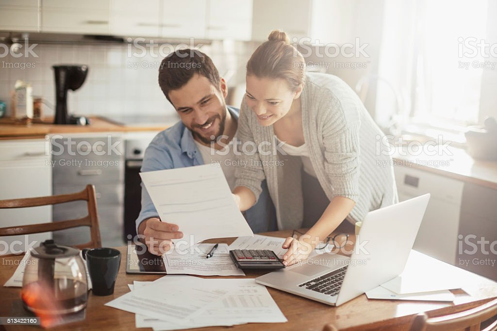 Home budgeting stock photo