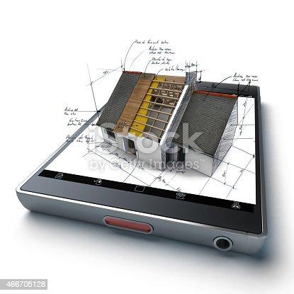istock Home building app 466705128