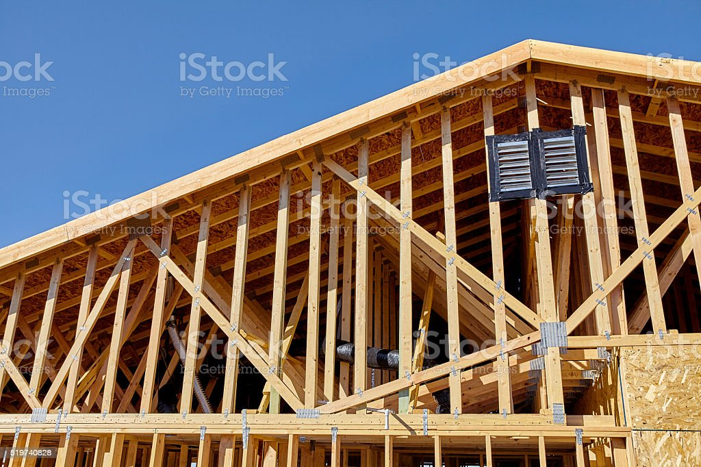 home building construction carpentry gable end roof framing stock