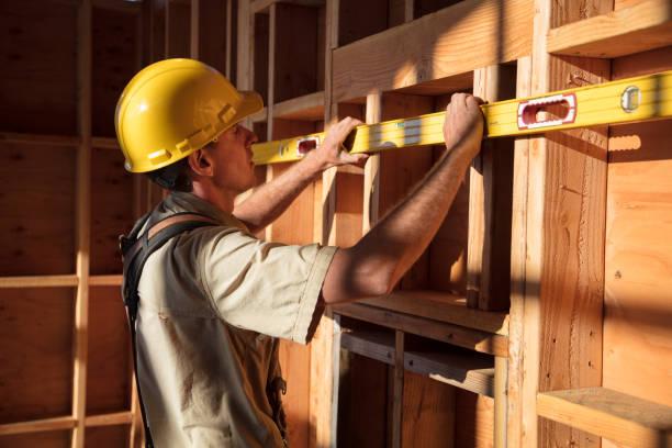 Accueil construction - mur de mesure - Photo