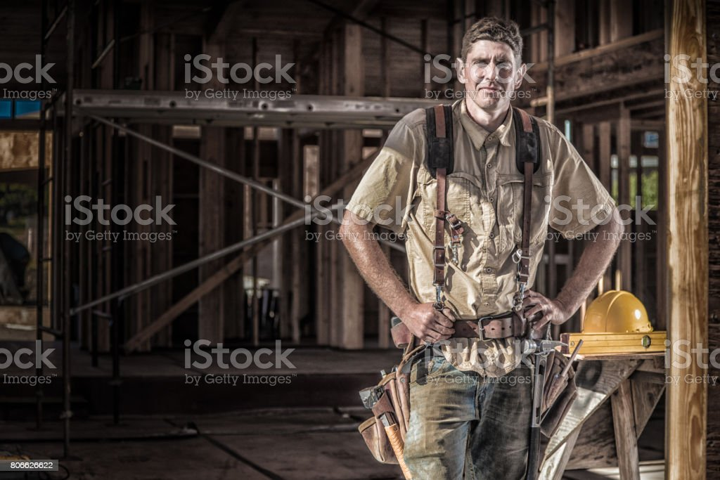 Home Building - portrait stock photo