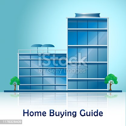 915688450 istock photo Home Buying Guide Building Depicts Evaluation Of Buying Real Estate - 3d Illustration 1176328409