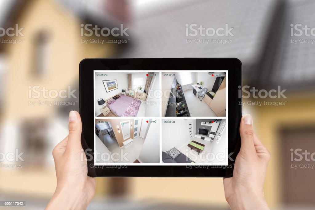 camera van het huis cctv bewaking systeem alarm slimme huis video foto