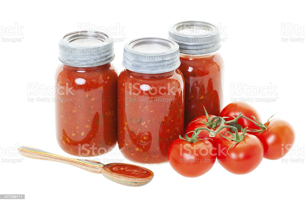 Home Canned Tomato Sauce stock photo