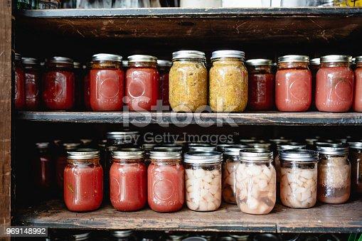 Masson jar, food, canned food, tomato sauce