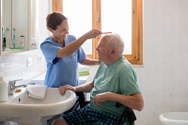 Home caregiver with senior man in bathroom picture id693238050?b=1&k=6&m=693238050&s=612x612&w=0&h=hxoaharfvk 5r6qkjn jt4bbl9lsuymr1xa vb1o7bq=