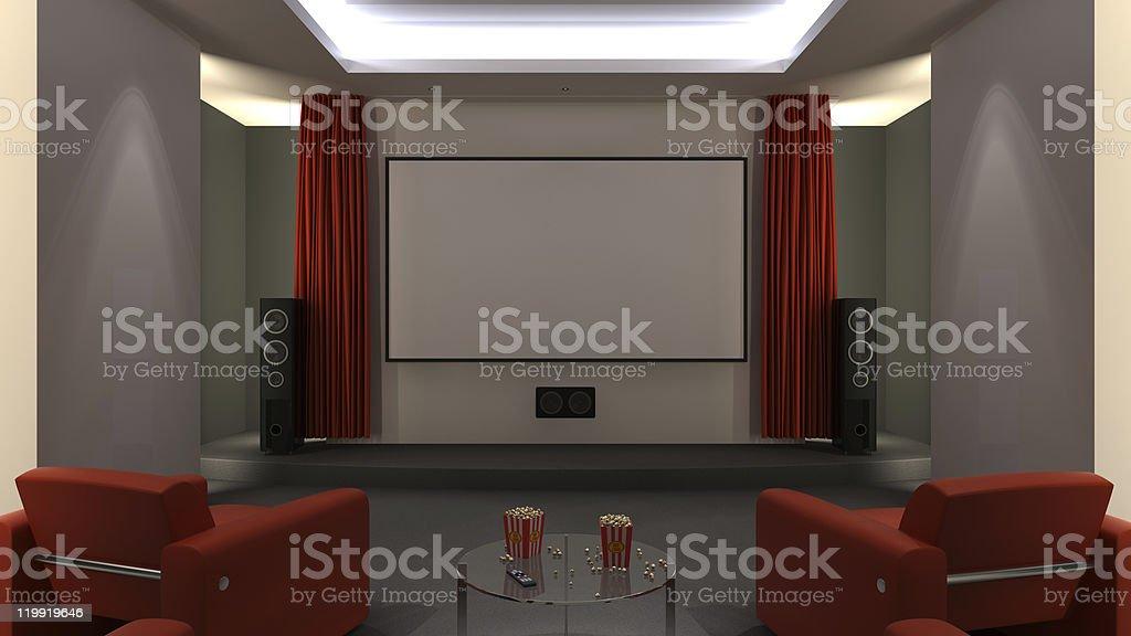 Home Cinema royalty-free stock photo