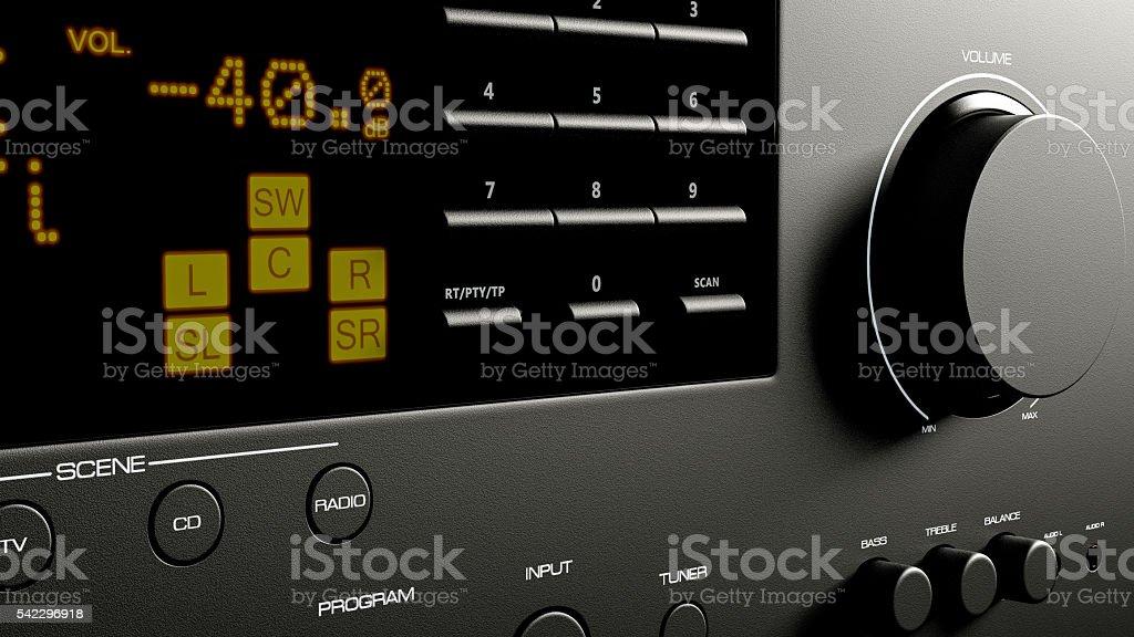 home cinema system multimedia 3d illustration stock photo