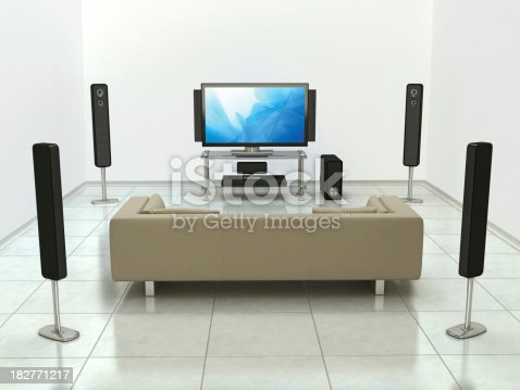 istock Home cinema system 182771217