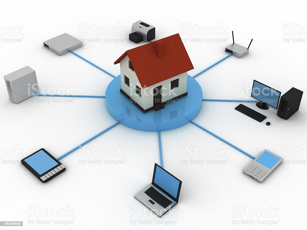 Home computer network royalty-free stock photo