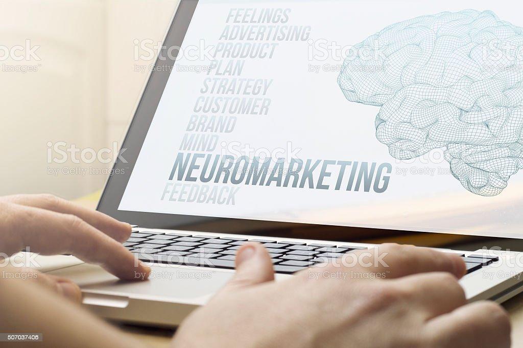 home computing neuromarketing stock photo