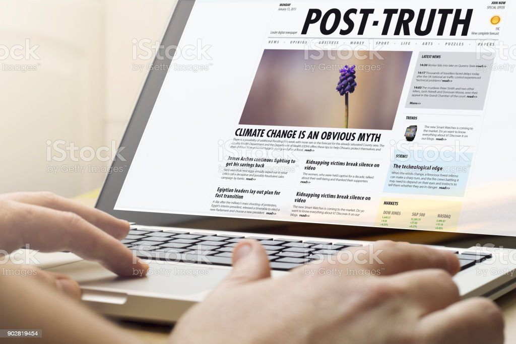 home computing post truth stock photo