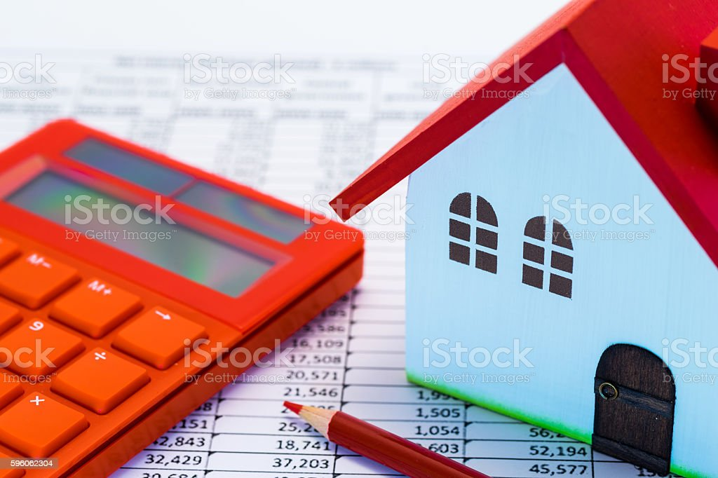 Home concept.  Colorful  wooden model of house. royalty-free stock photo