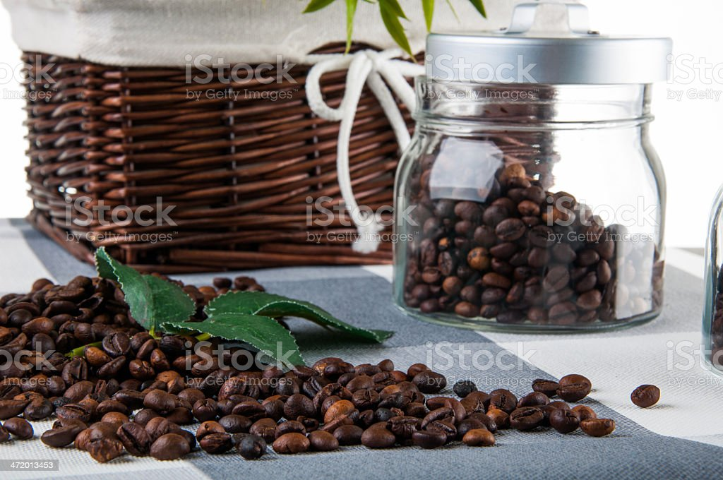Home concept with coffee and kitchen table stock photo