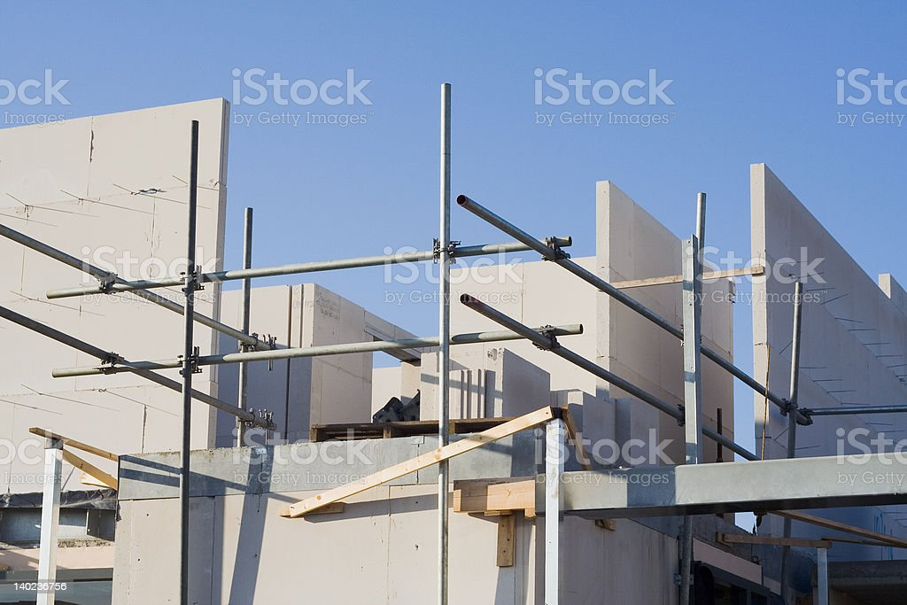 Home construction site 01 royalty-free stock photo