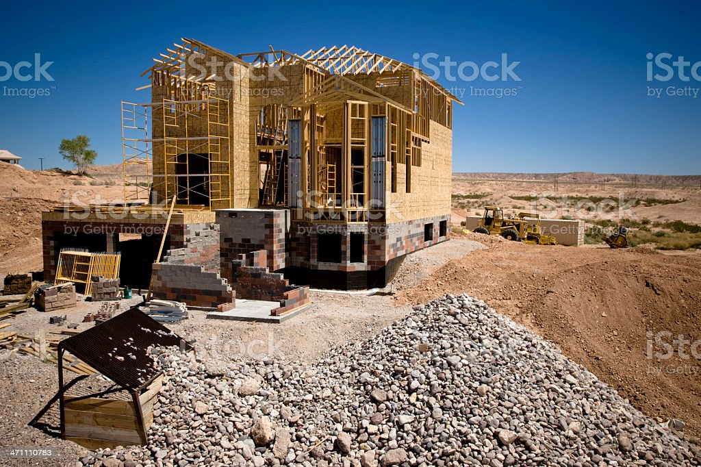 Home Construction Site royalty-free stock photo