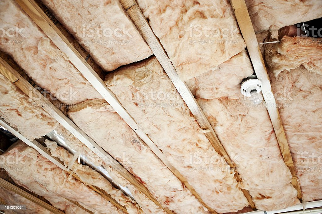 Home Construction: Unfinished Ceiling stock photo