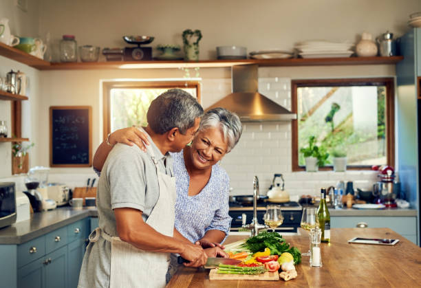 home cooked happiness - home cooking stock photos and pictures