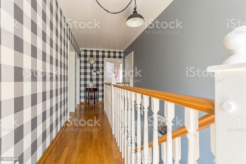 Home corridor in cottage style photo libre de droits
