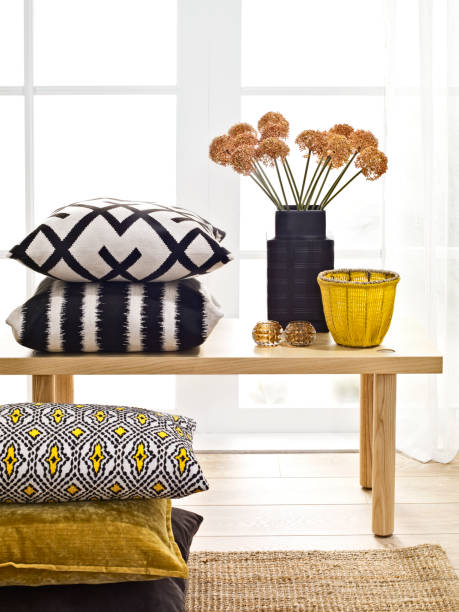 Home decor Chic home accessories in front of a window home decor stock pictures, royalty-free photos & images